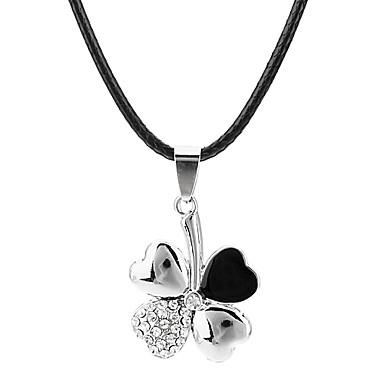 Dámské Čtyřlístek Luxus Měsíční kámen Náhrdelníky s přívěšky Nerez Štras Titanová ocel Umělé diamanty Náhrdelníky s přívěšky , Párty