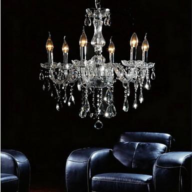 QINGMING® Cristal Candelabre Iluminare verticală - Cristal, 110-120V / 220-240V Becul nu este inclus / 50-60㎡ / E12 / E14