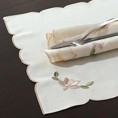 Contemporan Poliester Pătrat Șervețele Floral Decoratiuni de tabla