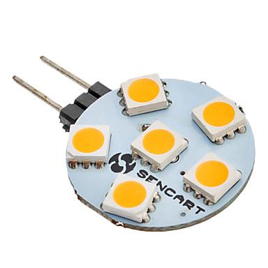 SENCART 60-80 lm G4 6 led SMD 5050 Sıcak Beyaz AC 12V