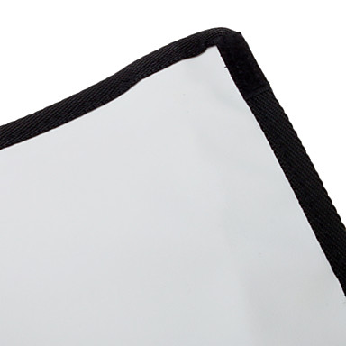 NEWYI K-B23 pliant Fabric Box Reflector pentru Speedlight-(Negru + Silver)