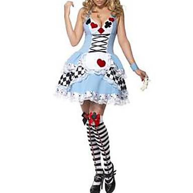 Cosplay Kostüme Uniformen Fest/Feiertage Halloween Kostüme Kleid Kopfbedeckung Halloween Karneval Frau