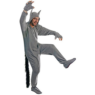 Yetişkin Kigurumi Pijama Kurt Onesie Pijama Polyester Cosplay İçin Erkek ve Kadın Hayvan Sleepwear Karikatür Festival / Tatil Kostümler