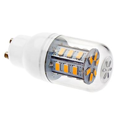 3W GU10 LED Mısır Işıklar T 24 led SMD 5730 Sıcak Beyaz 200-250lm 3000K AC 220-240V