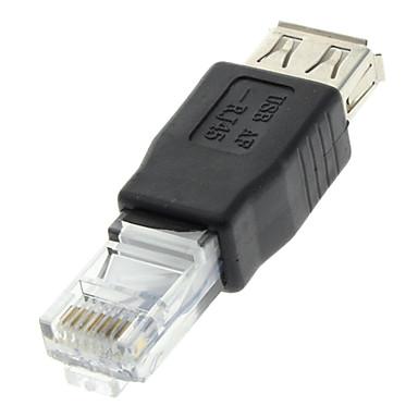 USB 2.0 Femeie pentru RJ45 Barbat Adaptor Negre pentru Ethernet