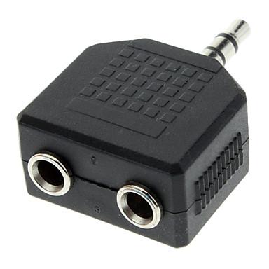 3,5 mm Stecker auf Dual-Buchse Audio-Split-Adapter