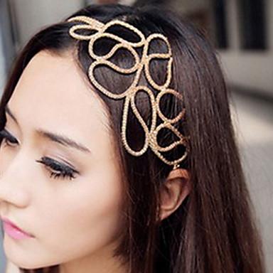 Kadın's Zarif Kumaş alaşım Saç Bandı - Çiçekli