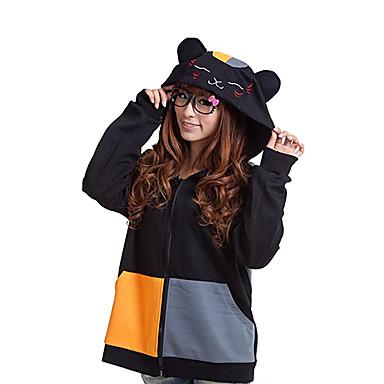 Kigurumi Pijamale Pisici Onesie Pijamale Costume Bumbac Negru Cosplay Pentru Adulți Sleepwear Pentru Animale Desen animat Halloween