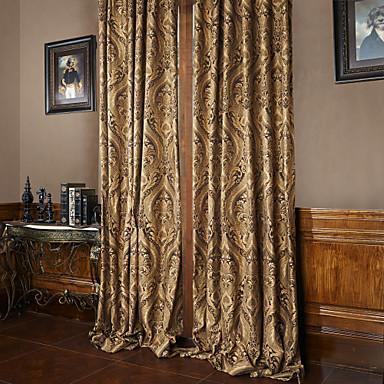 záclony závěsy Obývací pokoj Luxus Polyester Žakár