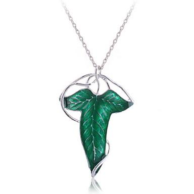 Necklacee duch leaf green slitina Pánské (přívěšek Lze použít jako brož)