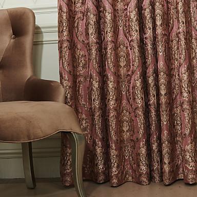 Dva panely Window Léčba Evropský Neoklasika Polyester Materiál záclony závěsy Home dekorace For Okno