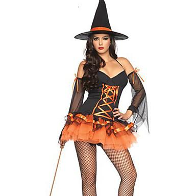 Cadı Cosplay Kostümleri Parti Kostümleri Kadın's Cadılar Bayramı Karnaval Yeni Yıl Festival / Tatil Cadılar Bayramı Kostümleri Solid