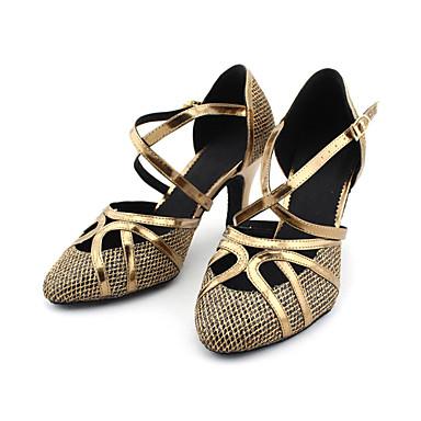 baratos Super Ofertas-Mulheres Sapatos de Dança Glitter / Courino Sapatos de Dança Moderna / Dança de Salão Salto Salto Personalizado Personalizável Bronze / Dourado / EU41