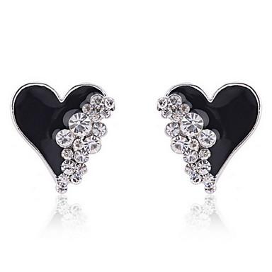 Žene Srce 1 Viseće naušnice - Srce Obala Crn Naušnice Za