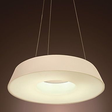 40W Artistic Acrylic Pendant Light with 1 Light in White Round Design