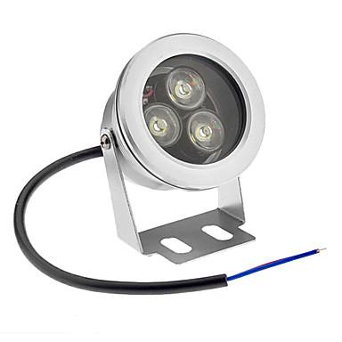 billige Utendørsbelysning-Undervannslys 800 lm 3 LED perler Høyeffekts-LED Vanntett Kjølig hvit 12 V