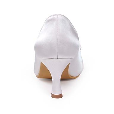 Chaussures Mariage 00843268 Pour Confort Bobine Noeud Talon Bleu Hiver Automne Champagne Rose Rouge Printemps Satin Ivoire ZnrAxZT