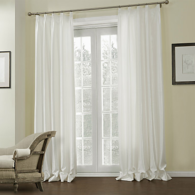 Rod Pocket Grommet Top Tab Top Double Pleat Two Panels Curtain Modern, Embossed Living Room Polyester Material Curtains Drapes Home