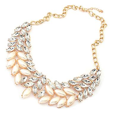 Dámské Evropský Obojkové náhrdelníky Perly Štras Slitina Obojkové náhrdelníky Párty Denní Kostýmní šperky