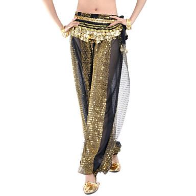 Belly Dance Bottoms Women's Training Chiffon Sequin Pants / Ballroom