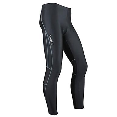 SANTIC Erkek Bisiklet Taytları - Siyah Bisiklet Bisiklet Tayt, Sıcak Tutma, Anatomik Tasarım, Nefes Alabilir