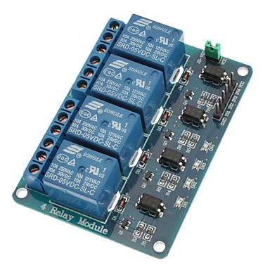 Optokuplörlü 4 kanallı röle modülü, arduino için pic avr dsp kolu için 5 v