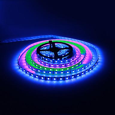 Uzaktan Kumanda ve 12V 5A Adaptörü ile 5M 30W 60x5050SMD RGB Işık LED Şerit Işık