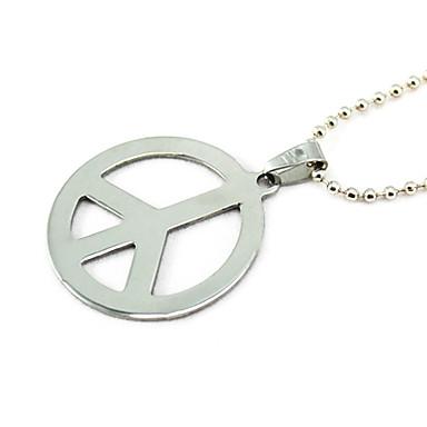 Herrn Anhängerketten - Titanstahl Frieden Silber Modische Halsketten Schmuck Für Party, Alltag