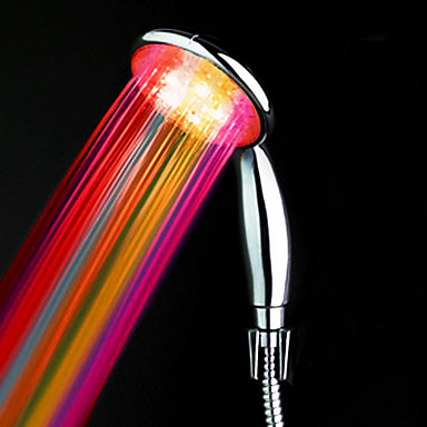 abs vodě poháněná barva měnící led ruční sprcha vysoká kvalita