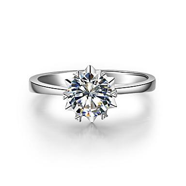 Dámské Diamant Vyčistit Stříbro Pokovená platina Stříbrná láska Kostýmní šperky