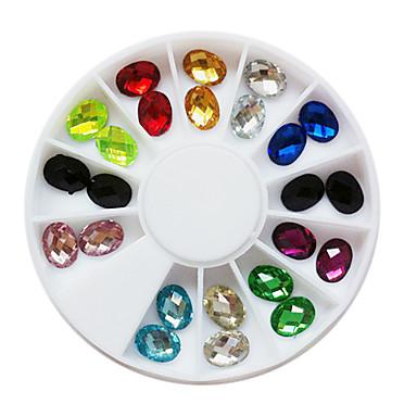 24 Nehtové šperky Glitter & Poudre Sady dekorace Módní Půvab Svatba Punk Vysoká kvalita Denní