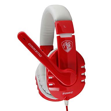 G927YY Somic Stereo Gaming USB 7.1 de sunet Channel over-Ear căști cu microfon și de la distanță pentru PC