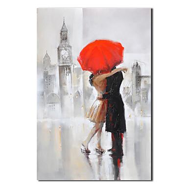 Pictate manual pictură ulei Oameni iubitorii saruta cu cadru întins