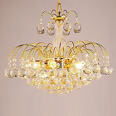 Modern/Contemporan Cristal Candelabre Lumină Spot Pentru Sufragerie Dormitor Coridor 110-120V 220-240V Bec Inclus