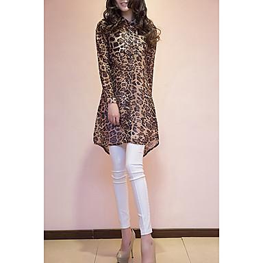 Causal Leopard longue chemise de la femme