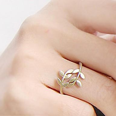 Pentru femei Inel de declarație - Aliaj Leaf Shape stil minimalist, Modă O Mărime Auriu / Argintiu Pentru Petrecere Zilnic Casual