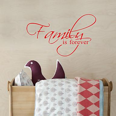 Ord Familie Is Forever Aftagelig Vægoverføringsbilleder Sticker