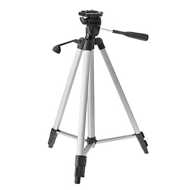 WEIFENG WT-330A 3-Section Camera Tripod (Silver+Black)