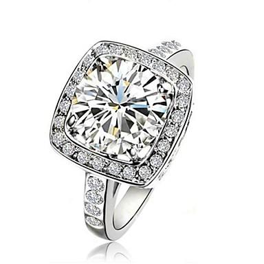 Damen Krystall Statement-Ring - Modisch Weiß Ring Für Hochzeit / Party / Normal