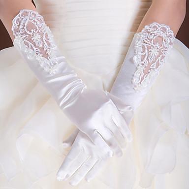 Dentelle / Satin / Polyester Longueur Coude Gant Classique / Gants de Mariée / Gants de Fête / Soirée Avec Couleur Unie