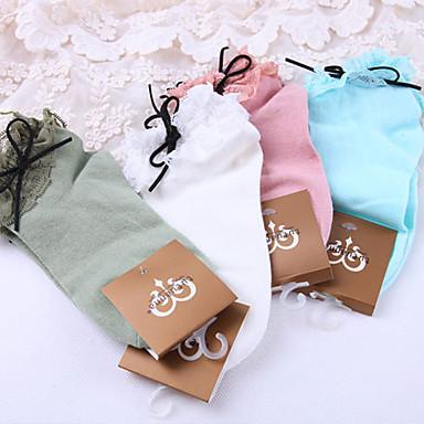 Șosete / ciorapi Lolita dulce Dantelat Pentru femei Alb Verde Albastru Roz Lolita Accesorii Dantelă Șosete Poliester Bumbac