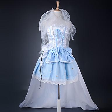 Inspireret af Macross Frontier Sheryl Nome Anime Cosplay Kostumer Cosplay Kostumer Kjoler Patchwork Kjole Armbånd Pandebånd Til Dame
