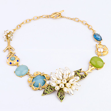 Femeilor europene și americane de moda de brand de lux ms colier de perle de flori