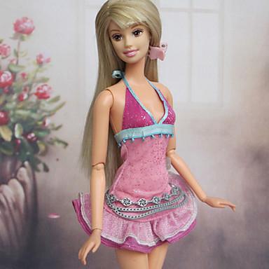 Na běžné nošení Šaty Pro Barbie Doll Polyester Šaty Pro Dívka je Doll Toy
