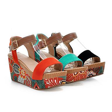Vert Daim 01108925 Noir Habillé Plateau Orange Femme Printemps Eté pour Creepers Chaussures Sw5z6qxzO