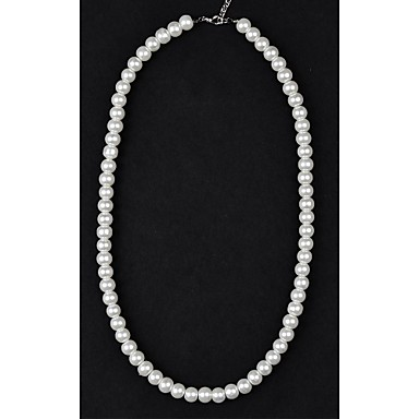 Women's Shape Pearl Necklace Strands Necklaces Pearl Imitation Pearl Pearl Necklace Strands Necklaces Wedding Party Daily Casual