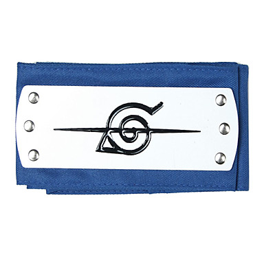 Jewelry / Headpiece Inspired by Naruto Cosplay Anime Cosplay Accessories Headband Black / Blue / Silver Alloy Male