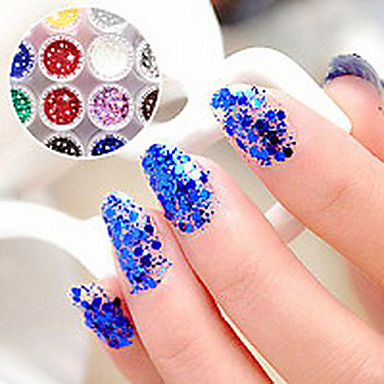 1PCS hexagonal Sclipici comprimate Nail Art Decoratiuni nr.13-18 (culori asortate)