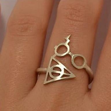 Pentru femei Band Ring - Aliaj Alphabet Shape 7 Auriu / Negru / Argintiu Pentru Petrecere / Zilnic / Casual