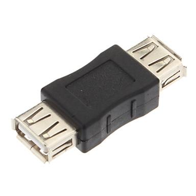 USB-Konverter, USB2.0 A-Buchse zu USB2.0 A Buchse Adapter (Schwarz)